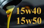 Что следует знать о моторном масле 15W40 и 15W50