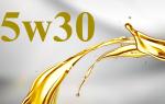 Характеристики моторного масла 5w30